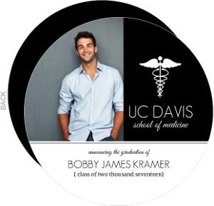 Black and White Medical School Graduation Announcement