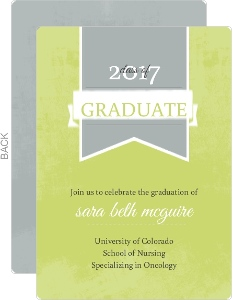 Green Nursing School Grad Invite