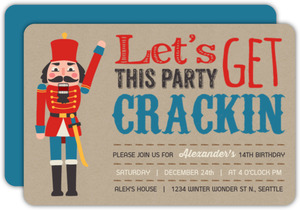 Fun Nutcracker Holiday Birthday Party Invitation