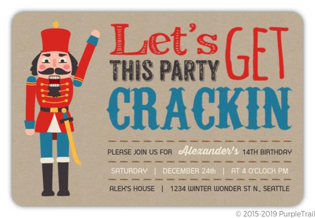 Fun Nutcracker Holiday Birthday Party Invitation