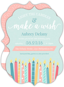 Whimsical candle wishes birthday party invitation 1958 0 big antique