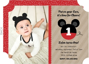 Krafty Ears Mouse Birthday Invitation