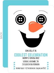 Happy Snowman Kids Birthday Invitation