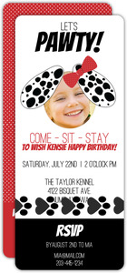 Puppy Adoption Kids Party Invitation