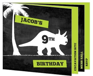 Dinosaur Dig Booklet Birthday Invitation