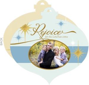 Rejoice Ornament Photo Card