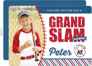 Rustic Fun Photo Baseball Birthday Party Invitation