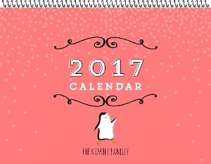 Crafty Penguin Family Photo Calendar