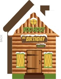Yoohoo Camping Cabin Birthday Party Invitations