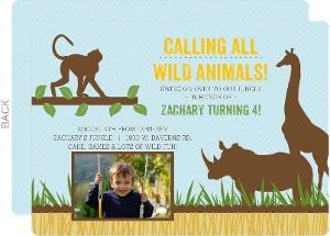 safari birthday invitations, Birthday invitations