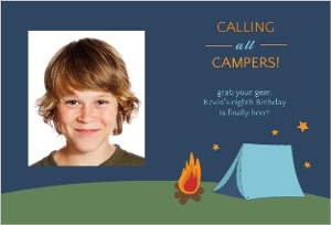Starry Night Camping Invitation