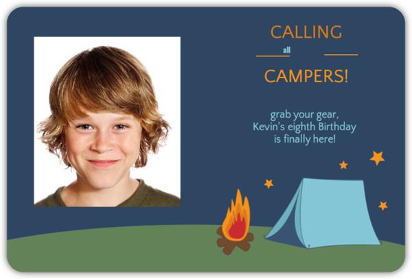 Starry Night Camping Invitation