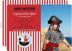 pirate birthday invitations, Birthday invitations