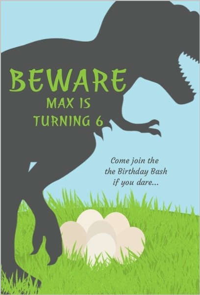 dinosaur birthday invitations, Birthday invitations