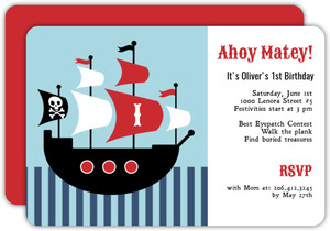 pirate party invitations, Party invitations