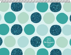 Whimsical Glitter Polka Dots Photo Calendar