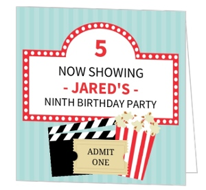 Showbox Big Day Birthday Party Invitation
