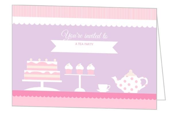 Tea Party Birthday Invitations – Tea Party Birthday Invites