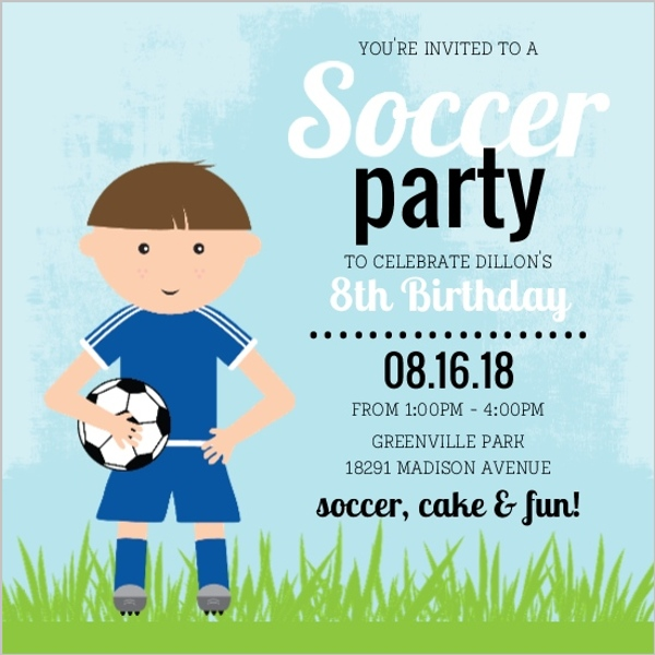 Soccer party invitations unitedarmyfo custom soccer party invitations and invites party invitations filmwisefo