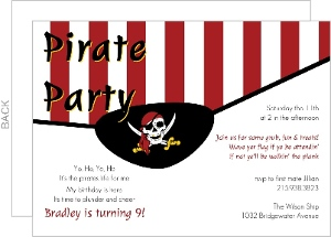 Pirate Eye Patch Birthday Invitation