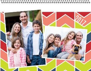 Bold Chevron Photo Wall Calendar