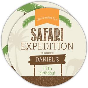 Boys Jungle Safari Birthday Invitation