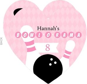 Pink Bowl-O-Rama Girls Bowling Birthday Invitation