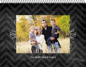 Chalkboard Chevron Wall Photo Calendar