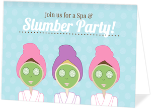 Spa And Slumber Girls Birthday Invitation