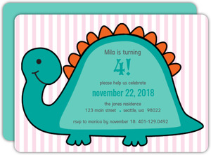 Dino Birthday Party Invite - 2076