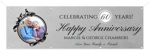 Elegant Photo Monogram Anniversary Banner