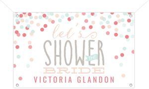 Cute Confetti Bridal Shower Banner