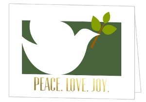 Peace Dove Gold Foil Christmas Card