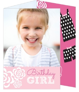 Pink Flowers Birthday Slumber Party Invitation