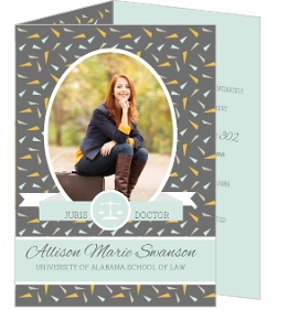 Festive Confetti Law School Graduation Invitation