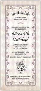 Pink Princess Tea Party Birthday Invitation