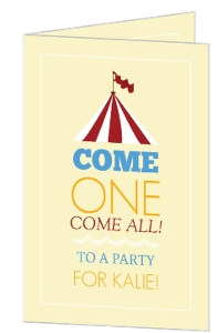 Red Circus Tent Birthday Invitation