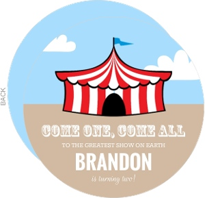Circus Big Top Kids Birthday Party Invitation