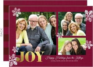 Snowflake Joy Gold Foil Photo Card