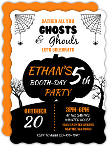 Ghosts & Ghouls Birthday Party Invitation