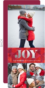Silver Foil Joy Photo Collage Christmas Photo Card