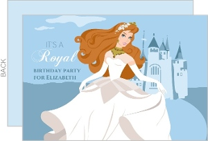 Princess And Castle Girls Birthday Party Invitation
