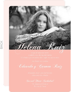 Sweet Pink Quinceanera Invitation