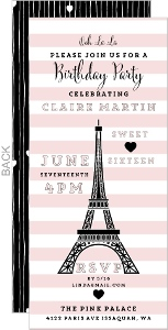 Whimsical Eiffel Tower Sweet Sixteen Invitation
