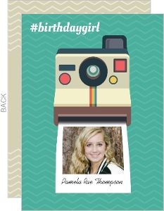Polaroid Selfie Birthday Party Invitation