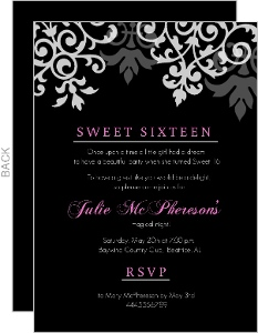 sweet sixteen invitations & sweet 16 birthday party invitations, Birthday invitations