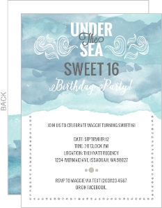 Under The Sea Sweet 16 Birthday Invitations
