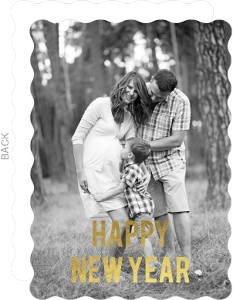 Simple Gold Foil Happy New Years Card