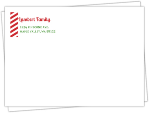 Striped Party Custom Return Address Envelope