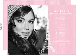 Pink Paris Sweet 16 Birthday Invitation